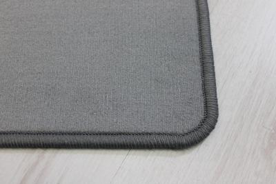 Velour teppich  Teppichkiste - Alina grau Velour Teppich Top Qualität