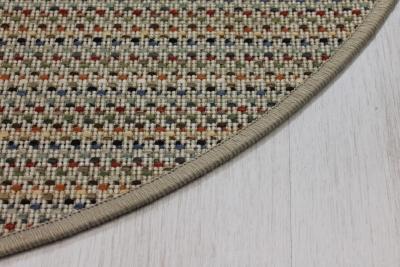 Teppichkiste Olympus Beige Sisal Optik Teppich Bunt Gemustert Rund