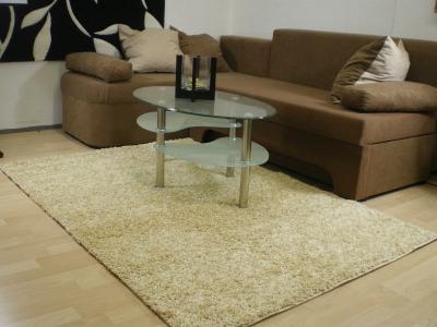 teppichkiste shaggy teppich baly beige 60 x 110 cm. Black Bedroom Furniture Sets. Home Design Ideas