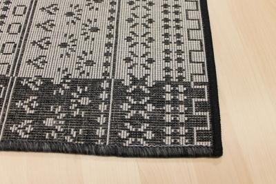 Teppich grau schwarz  Teppichkiste - Sisal-Optik Teppich Läufer Country Life grau schwarz