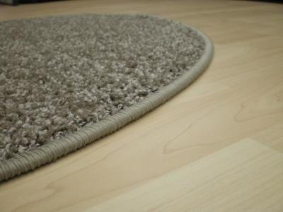 Hochflor teppich beige rund