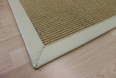 Sisal teppich weiß  Teppichkiste - Sisal Teppich Nussfarbe Beige 70 x 130 cm mit Kunst ...