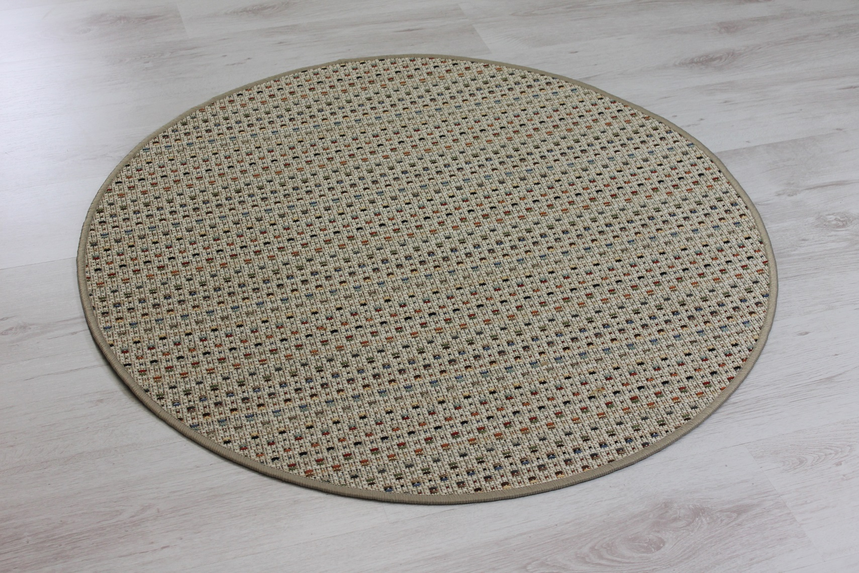 teppichkiste olympus beige sisal optik teppich bunt gemustert rund musterfarbe 20. Black Bedroom Furniture Sets. Home Design Ideas