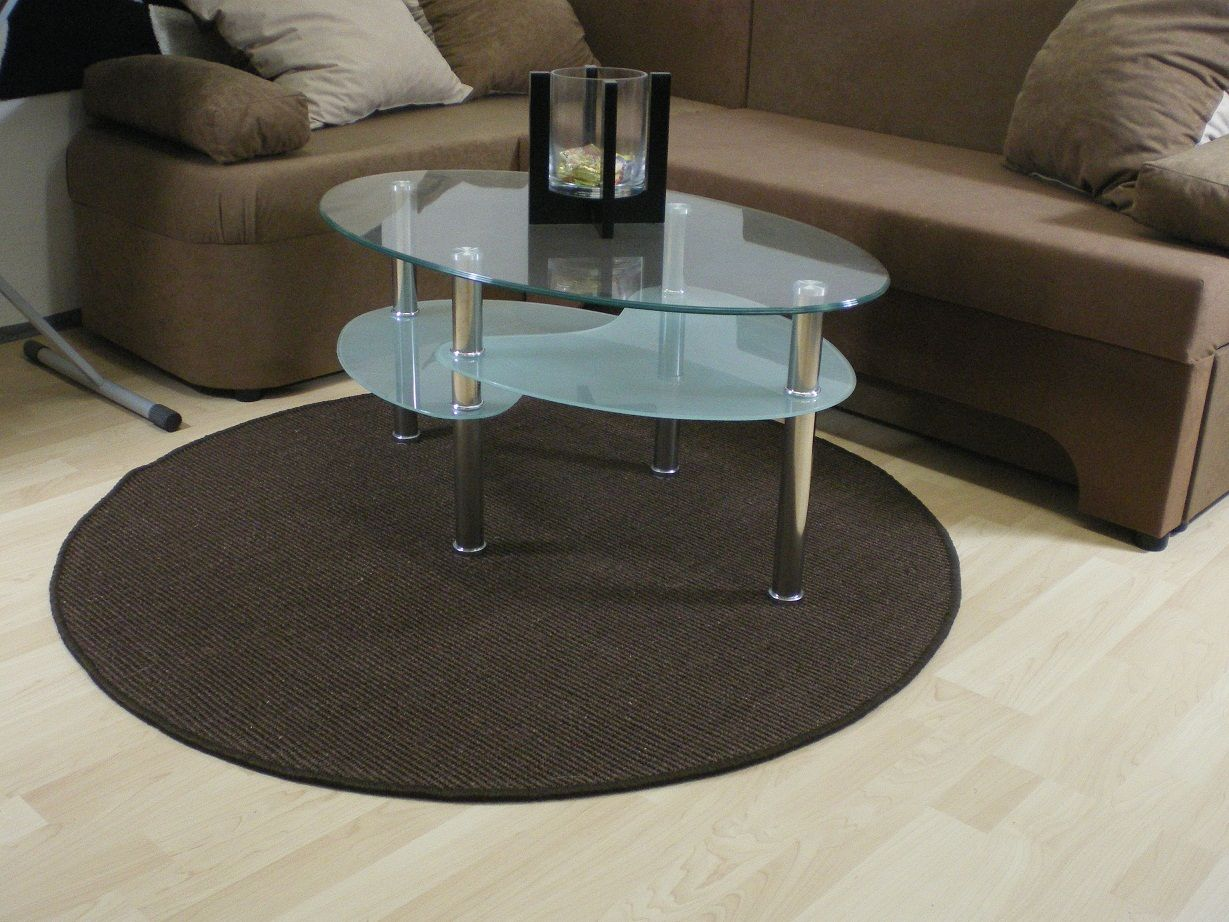 Teppichkiste - 100% Sisal Teppich Malta, braun, Rund, viele Größen
