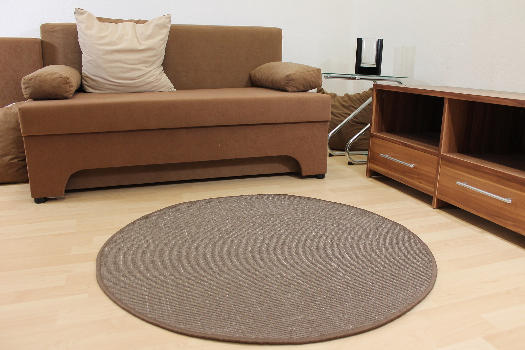 teppich rund beige trend shaggy langflor teppich 660 beige 250 cm rund neu teppich soft. Black Bedroom Furniture Sets. Home Design Ideas
