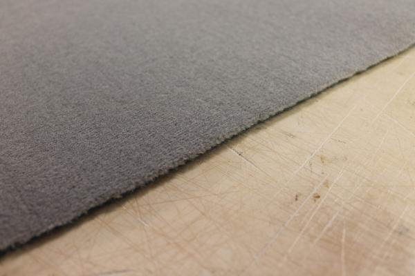 Alina grau Velour Teppichboden Auslegware für Allergiker