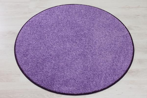 Teppich rund lila  Teppichkiste - Hochflor Shaggy Teppich Merlin lila / flieder rund