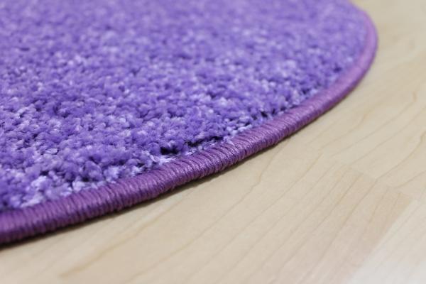 hochflor shaggy teppich merlin lila flieder rund helle kettelung kinderteppich ebay. Black Bedroom Furniture Sets. Home Design Ideas