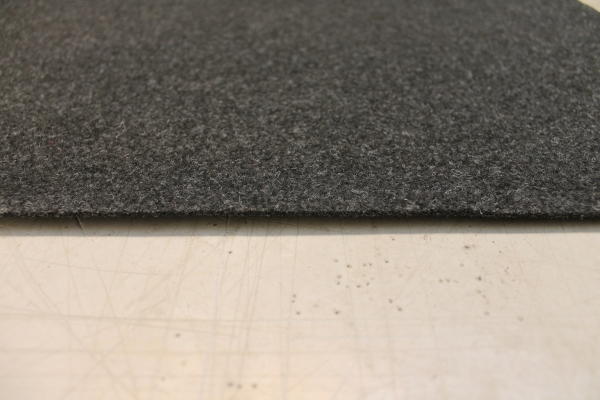 Nadel filz anthrazit, 2 m breit, vlies Auslegware Boot