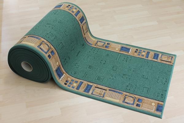 Teppich Läufer Avignon grün 67 cm breit
