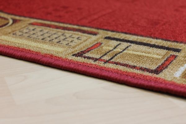 Teppich Läufer Avignon rot 67 cm breit  eBay