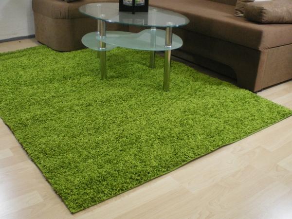 Willkommen bei Teppichkiste  Shaggy Teppich Baly grün 60
