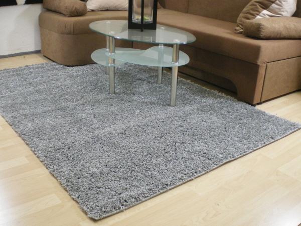 Teppichkiste  Shaggy Teppich Baly grau 60 x 110 cm