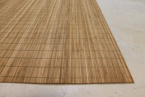 Bambus Teppich Natur 200cm breit für Camping oder