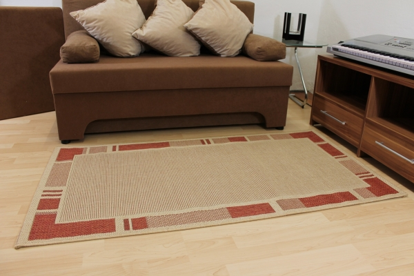 sisal optik teppich country life bord re beige terra f r k che bad ebay. Black Bedroom Furniture Sets. Home Design Ideas