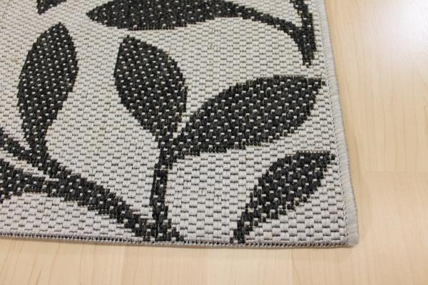 sisal optik teppich country life blumenmuster grau schwarz ebay. Black Bedroom Furniture Sets. Home Design Ideas