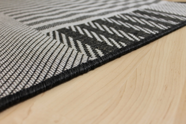 sisal optik teppich country life streifenm grau schwarz k che bad. Black Bedroom Furniture Sets. Home Design Ideas