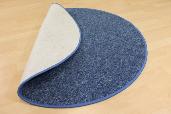 Schlingen Teppich Indiga Blau Rund Top Qualität und