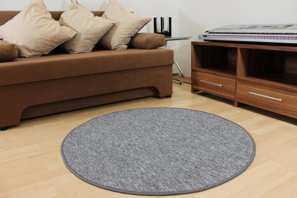 schlingen teppich indiga grau rund top qualit t und strapazierf hig ebay. Black Bedroom Furniture Sets. Home Design Ideas