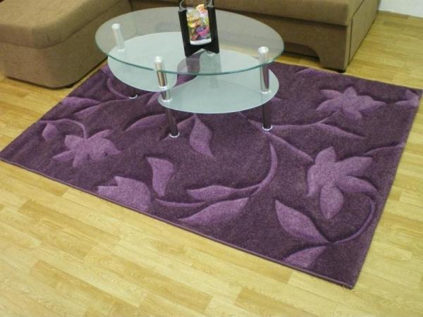 Teppichkiste  Design Teppich Kemer violett