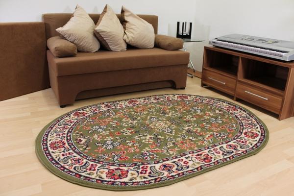 design teppich klassika gr n orient muster oval. Black Bedroom Furniture Sets. Home Design Ideas