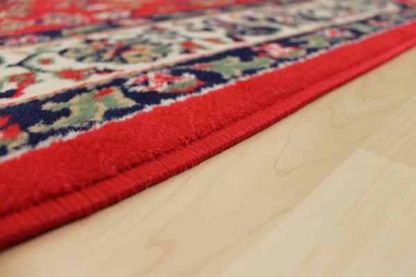 Teppichkiste  Design Teppich Klassika rot achteck