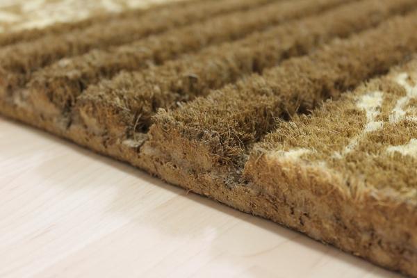 Teppichkiste  Kokos Fußmatte beige  braun