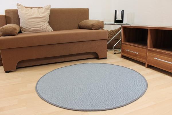 teppichkiste sisal teppich malta blau grau rund. Black Bedroom Furniture Sets. Home Design Ideas