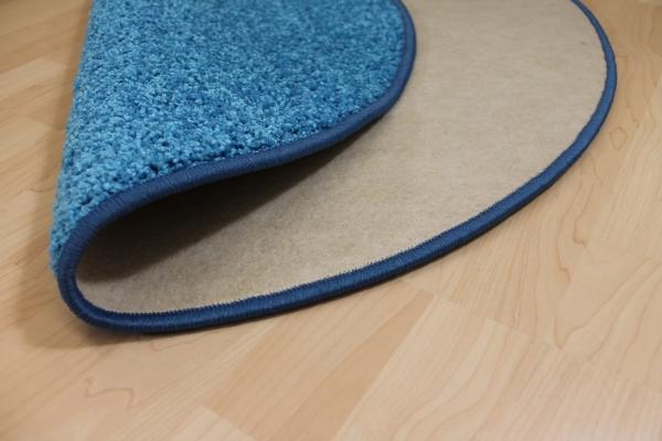 Teppichkiste  Hochflor Shaggy Teppich Merlin blau rund
