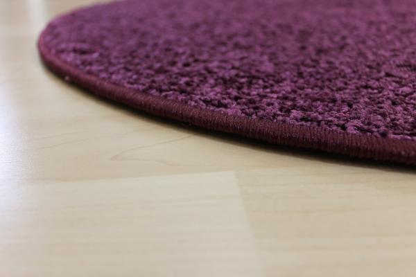 Teppichkiste  Hochflor Shaggy Teppich Merlin violett rund