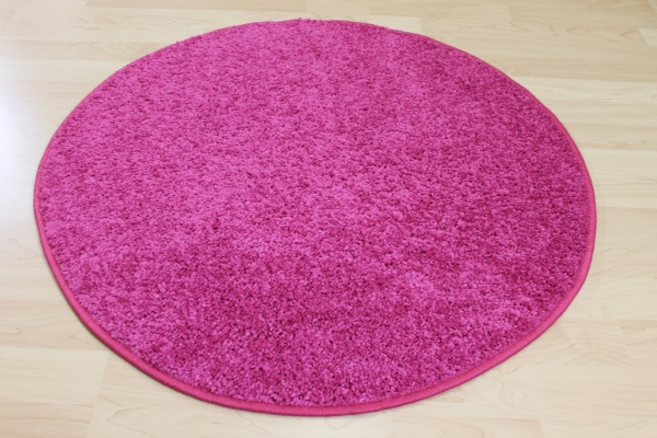 hochflor shaggy merlin rosa pink rund kinder teppich ebay. Black Bedroom Furniture Sets. Home Design Ideas