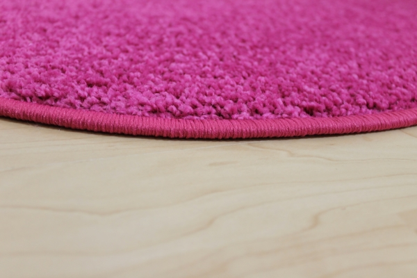 Teppichkiste  Hochflor Shaggy Teppich Merlin rosa  pink rund