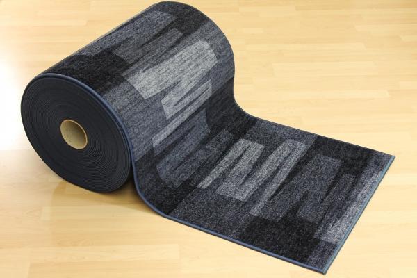 teppichkiste teppich l ufer nizza grau blau velour 80 cm. Black Bedroom Furniture Sets. Home Design Ideas