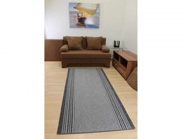 teppich l ufer paris grau 90 cm breit ebay. Black Bedroom Furniture Sets. Home Design Ideas
