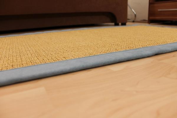 Teppichkiste  Sisal Teppich Naturfarbe 70 x 135 cm mit