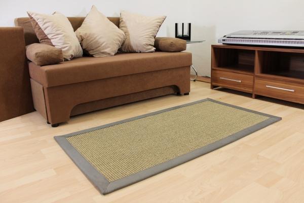 Teppichkiste  Sisal Teppich Nussfarbe Beige 70 x 135 cm