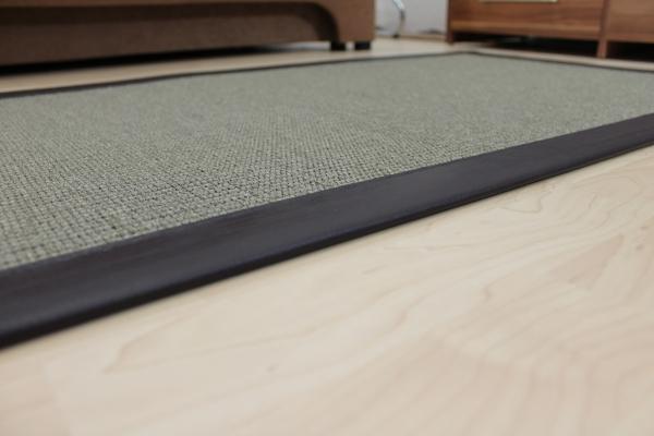 teppichkiste sisal teppich malta grau gr n 70 x 135 cm. Black Bedroom Furniture Sets. Home Design Ideas