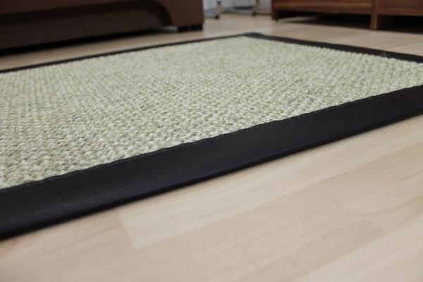 Teppichkiste  Sisal Teppich Beige 70 x 135 cm mit Kunst