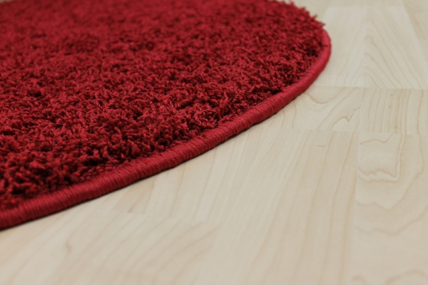 hochflor shaggy teppich teddy rot rund ebay. Black Bedroom Furniture Sets. Home Design Ideas